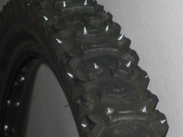 Front tire close-up