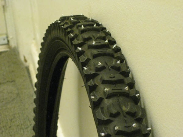 Completed front tire