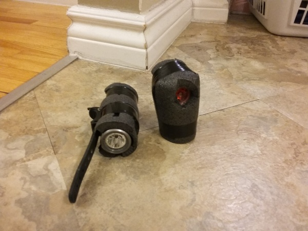 Insulated front and rear bike light